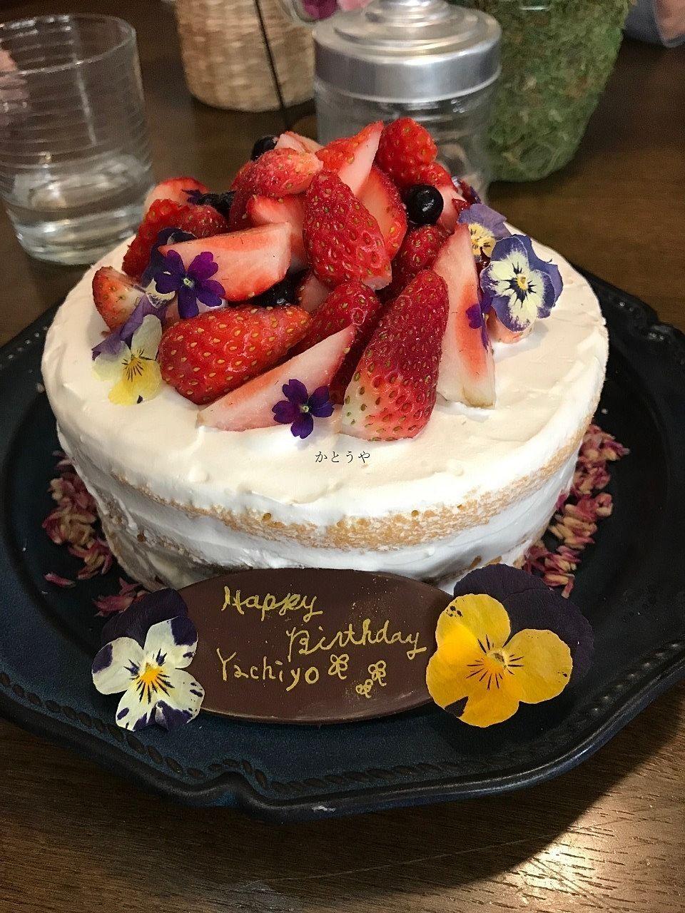 流山市平和台駅前のFlowercafeひまつぶしさんでお誕生日ケーキを用意して下さいました!