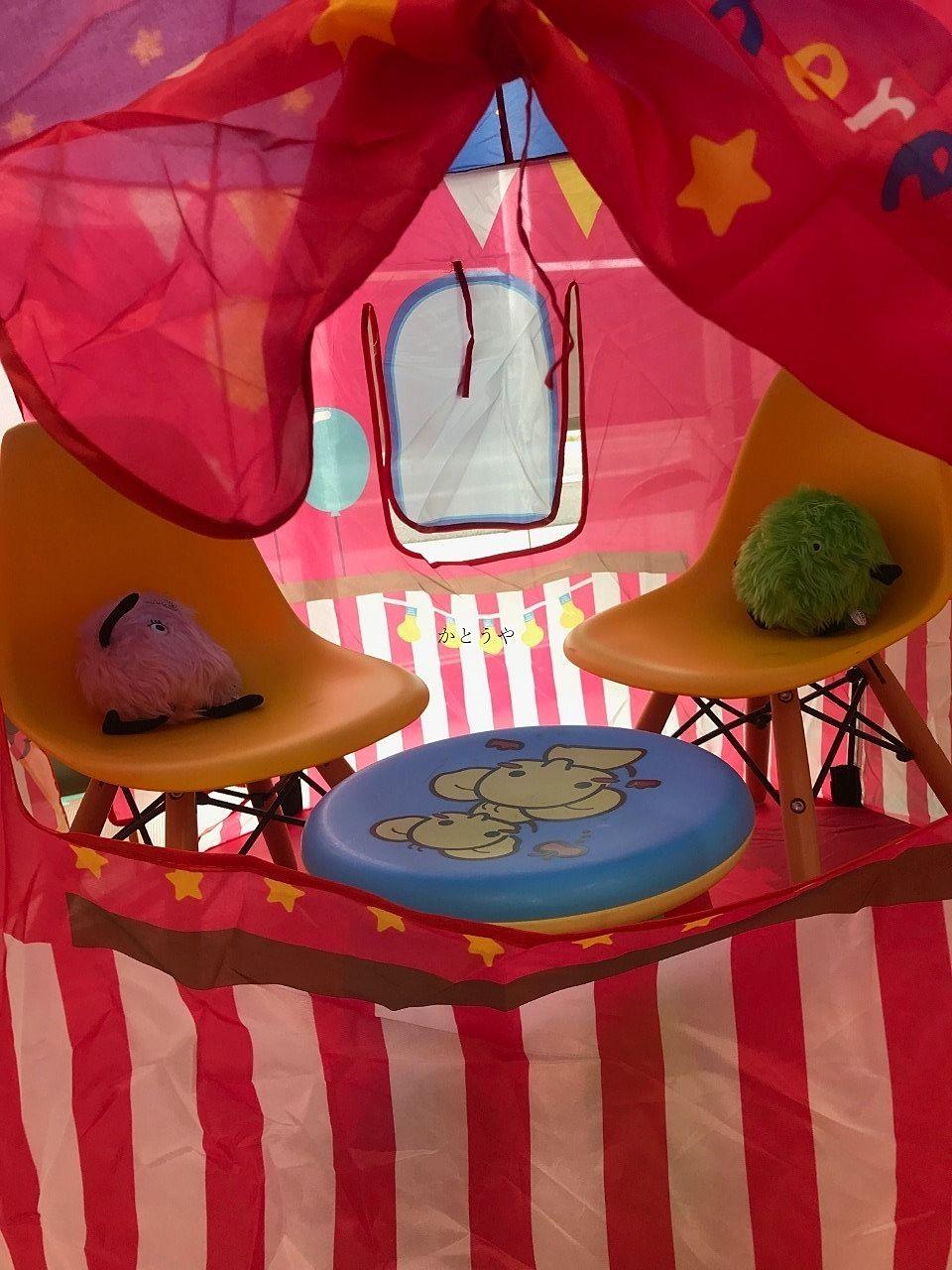 テントの中にスーモを配置してみました。