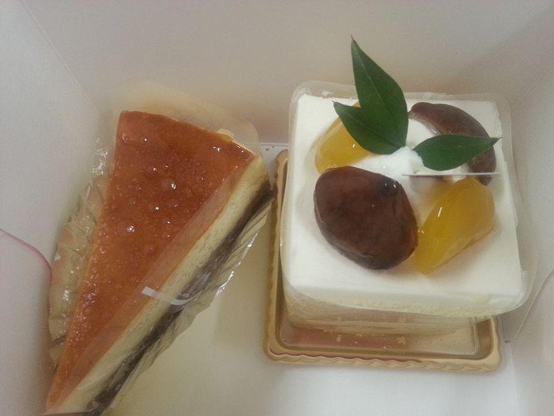 フランス菓子のミレーさんの美味しそうなケーキ