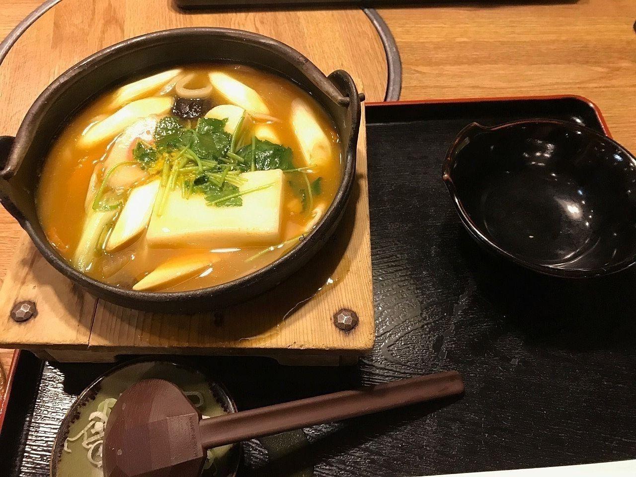 松戸市新松戸 「かやぶき蕎麦やぶ」さんの熱々のほうとう
