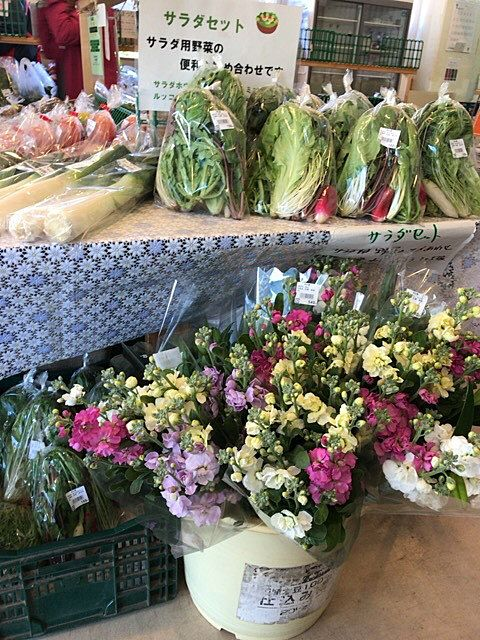 新鮮食味では時にはお花も売っています