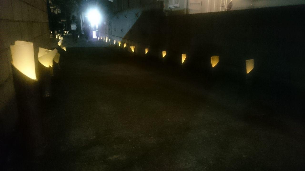 浅間神社 灯篭 ライトアップ